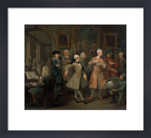 A Rake's Progress II: The Levee by William Hogarth
