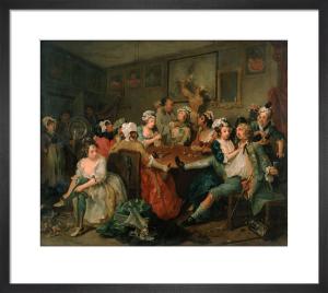 A Rake's Progress III: The Orgy by William Hogarth