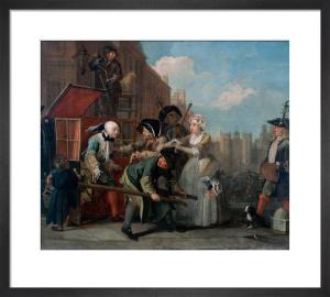 A Rake's Progress IV: The Arrest by William Hogarth