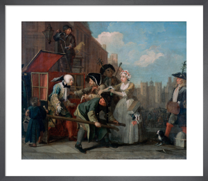 A Rake's Progress IV: The Arrest by William Hogarth