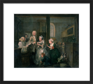 A Rake's Progress V: The Rake Marrying an Old Woman by William Hogarth