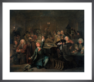 A Rake's Progress VI: The Gaming House by William Hogarth