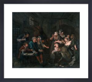 A Rake's Progress VII: The Prison by William Hogarth