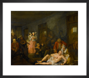 A Rake's Progress VIII: The Madhouse by William Hogarth