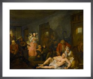 A Rake's Progress VIII: The Madhouse by William Hogarth