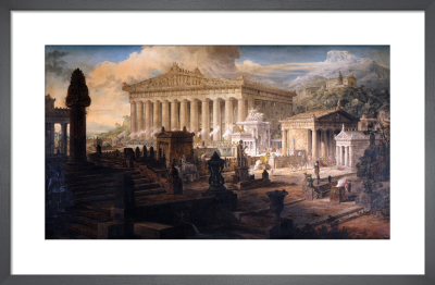 Architectural Composition : A restoration of the Temple of Ceres and other ancient buildings at Eleusis by Joseph M Gandy
