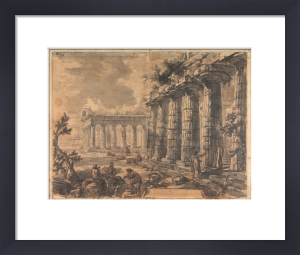 Paestum, Italy, Basilica and Temple of Neptune by Giovanni Battista Piranesi