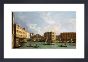 View of the Rialto Bridge, from the North by Giovanni Canaletto