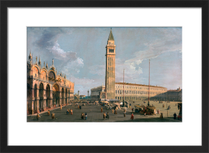 The Piazza di San Marco, Venice by Giovanni Canaletto