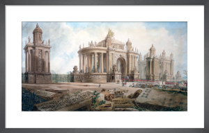 Design (by John Soane) for an Entrance to London by Joseph M Gandy