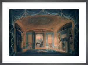 Design perspective for the interior decoration of the breakfast room, Pitzhanger Manor. by Joseph M Gandy