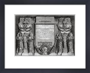 Piranesi Diversi Manieri dedicatory plate by Giovanni Battista Piranesi
