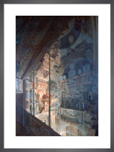 View of the Dome area by lamplight looking south-east. by Joseph Michael Gandy