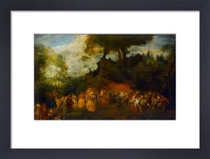 Les noces by Jean Antoine Watteau