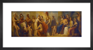 Pandora, (Library-Dining Room ceiling painting, 2 of 6) by Henry Howard