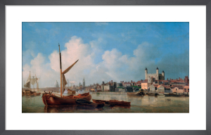 View on the River Thames near the Tower of London by Samuel Scott