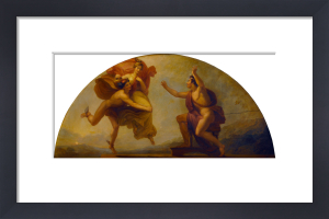 Epimetheus Receiving Pandora (Library-Dining Room ceiling painting, 5 of 6) by Henry Howard