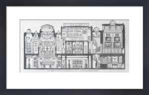 A cross-section through Sir John Soane's Museum, 1835 by Anonymous