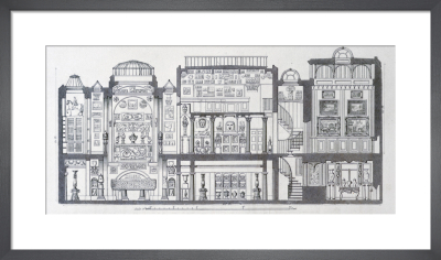 A cross-section through Sir John Soane's Museum, 1835 by The The Soane Office