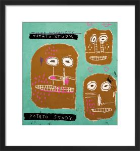 Three Arsonists, 1983 (Potato Study) by Jean-Michel Basquiat