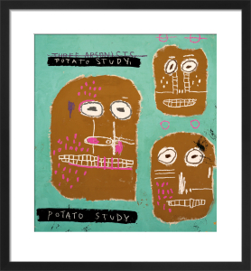 Three Arsonists, 1983 (Potato Study) by Jean-Michel Basquiat