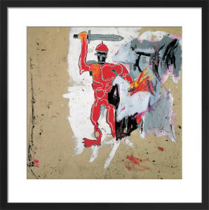 Untitled (Red Warrior) 1982 by Jean-Michel Basquiat