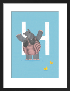 H is for Hippo by Sugar Snap Studio