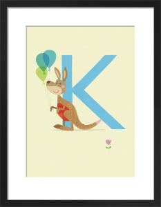 K is for Kangaroo by Sugar Snap Studio