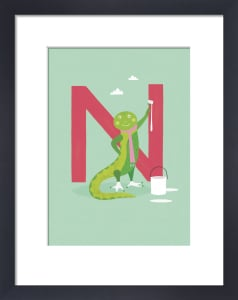 N is for Newt by Sugar Snap Studio