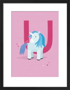U is for Unicorn by Sugar Snap Studio
