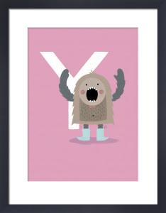 Y is for Yeti by Sugar Snap Studio