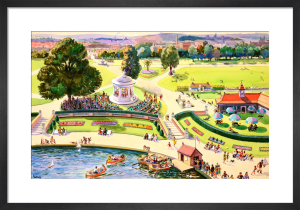 The British Scene - City park scene, 1939-1946 by John Gilroy