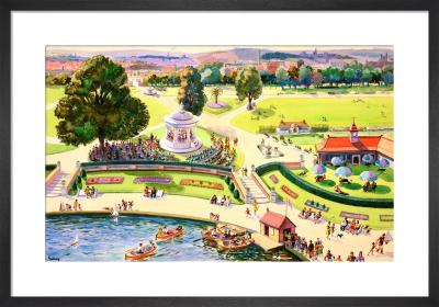 The British Scene - City park scene, 1939-1946 by John Gilroy