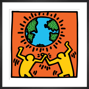 Untitled, (world) by Keith Haring