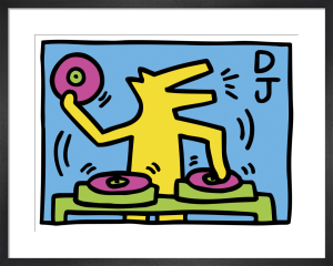 Untitled (DJ), 1983 by Keith Haring