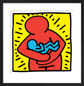 Untitled, (mother and baby) by Keith Haring