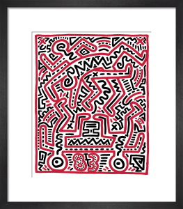 Fun Gallery Exhibition 1983 by Keith Haring