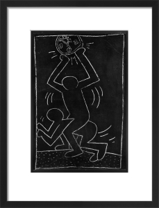 Untitled (subway Drawing) 12 by Keith Haring