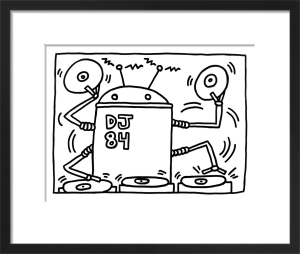 DJ 84, 1983 by Keith Haring