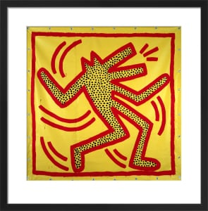 Untitled, 1982 (red dog on yellow) by Keith Haring