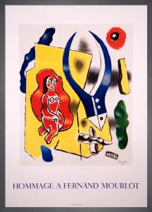 Hommage a Fernand Mourlot, 1990 by Fernand Leger
