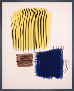 For the poster for the Musee National d'art Moderne de Paris Lithograph by Hans Hartung