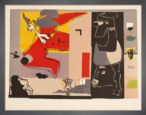 Femme, Unicorne et Taureau Noir, 1960 by Le Corbusier