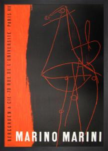 Berggruen and Cie, 1955 by Marino Marini