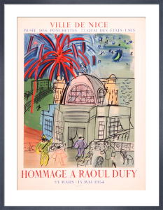 Hommage a Raoul Dufy, 1954 by Raoul Dufy