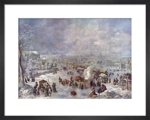 Thames Frost Fair by Jan Griffier the Elder