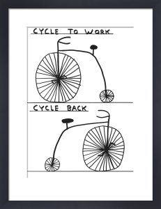 Work and Back by David Shrigley