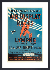 International Air Display and Races, 1934 by Royal Aeronautical Society