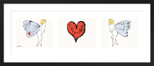 I Love You So, c.1957 (triptych) by Andy Warhol