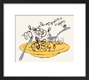 Spaghetti is So Slippery, c.1958 by Andy Warhol
